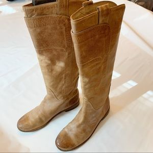 Frye Paige Tall Riding Boots 8.5 Burnished Tan